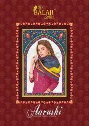 Balaji Cotton Aarushi Designer Cotton Dupatta Printed Catalog Collection