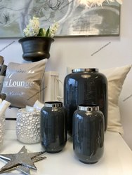 Wrought Iron Enamel Vases