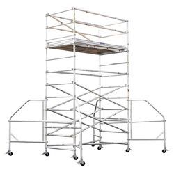 Aluminium Scaffolding With Additional Support