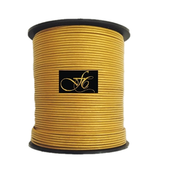 Golden Mosaic Metallic Round Leather Cord