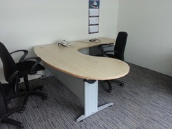 L Shaped Manager Table