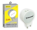 Troops TP- 214 3.4AMP Round 2 USB with Cables