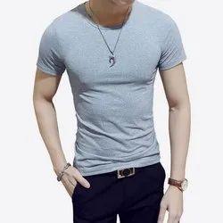 Men''s White Round Neck T-Shirt