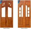 Polished Teak Wood Double Doors, Size: 7.5 X 3.5 Feet, Thickness: 30mm To 35 Mm