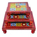 Wooden Rajasthani Chowki Stool Bajot