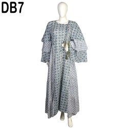 10 Cotton Hand Printed Women's Long Dress India DB7
