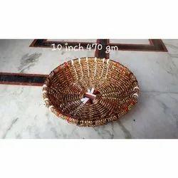 10 Inch Round Handicraft Basket