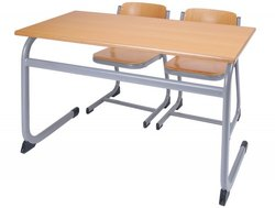 Stainless Steel Sharing Study Desk