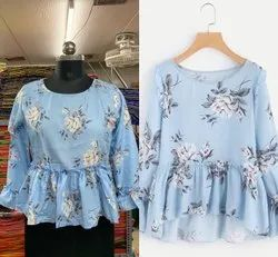 Poly Rayon Printed Top