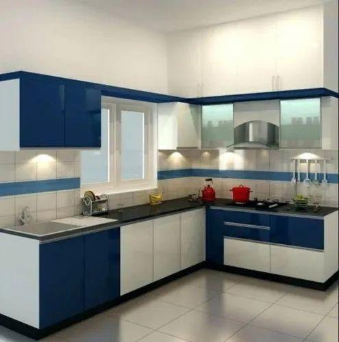 Sf L Shape Modular Kitchen At Rs 1200 Square Feet L Shape Modular Kitchen Id 21591572848