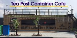 Tea Post Container Cafe