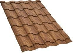 Walnut Wood Finish Natura Espana Roofing Sheet