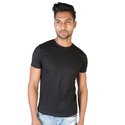 Cotton Medium Mens Black Plain T Shirt