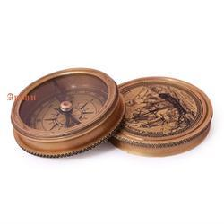Artshai Gold Antique Look Magnetic Direction Compass, 20x10x10
