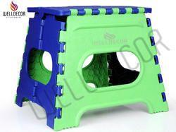 Plastic Folding Stool, 12 Inch