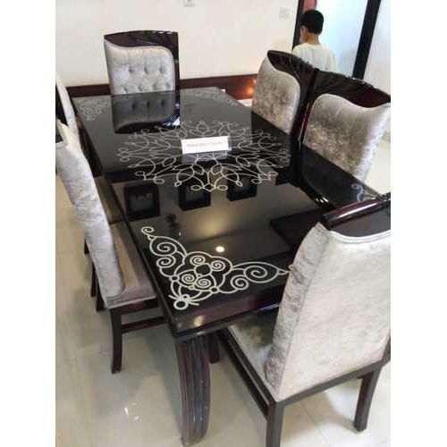 6 Seater Designer Wooden Dining Table Set Rs 32000 Piece Id