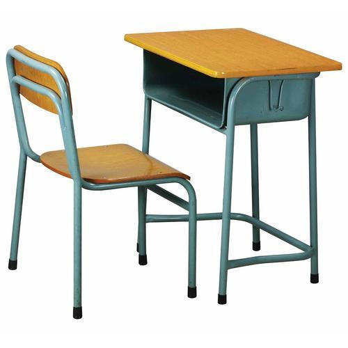 wood steel single seater school table chair size 20 25 inch rh indiamart com single dining table chair single table and chair hire