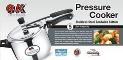 Stainless Steel Standard Shape 5.0 Ltr Pressure Cooker