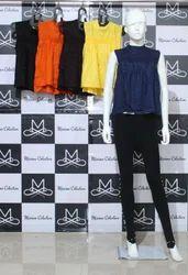 Girls Sleeveless Moti Designer Top, Size: L