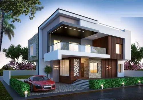 3d Elevation Design Duplex House Elevation Design Service Provider From Noida