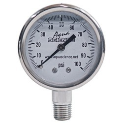 Sunpass New Stainless Steel Pressure Gauge