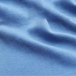 Blue GOTS Certified Organic Cotton Fabric