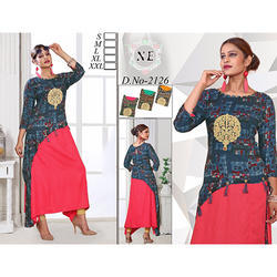 Double Layer Anarkali Kurti