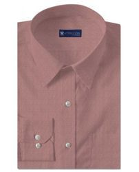 Odelia Red Pinpoint Oxford Shirts