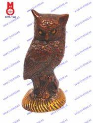 Owl Sitting On Rd.Base