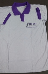 Cotton Boys DDU GKY Uniform T-Shirt, For Free Distribution To Students, Packaging Type: Single Piece Packing