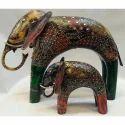 Metal Bikaner House Elephant Show Piece, Packaging Type: Carton Box