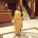 Ladies Yellow Straight Long Kurti With Pant And Dupatta