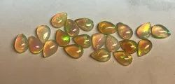Natural Ethiopian Opal Pear Shaped Gemstones
