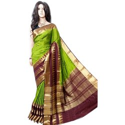 Party Wear Kanchipuram Silk Saree, 6 m (with blouse piece)