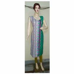Ladies Cotton Printed Long Straight Kurti