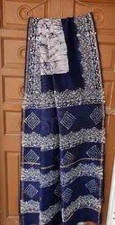 Bagru Hand Printed Chanderi Saree