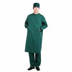 Cotton Unisex Green Pharmaceutical Uniform, Size: XXL
