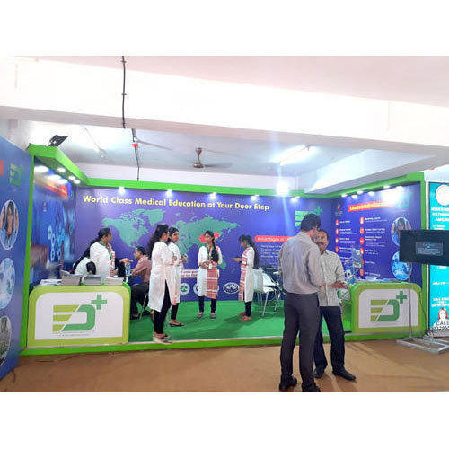 Exhibition Booth Size : One side open exhibition booth size meter rs square