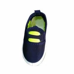 Navy Blue Slip On Plain Kids Boys Shoes, Packaging Type: Box, Features: Washable