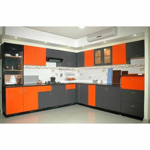 L Shaped Aluminum Modular Kitchen At Rs 2500 Square Feet L Shape