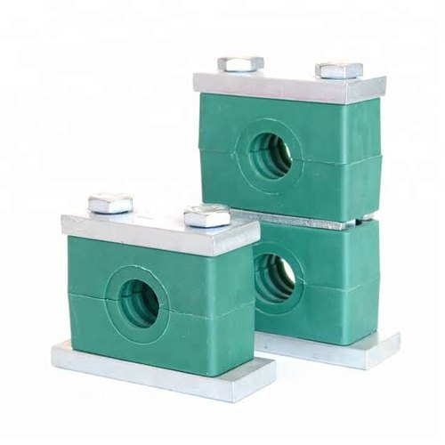 Green Plastic Hydraulic Pipe Clamp, for Pipe Fitting, Size Range: 1/2' -10""