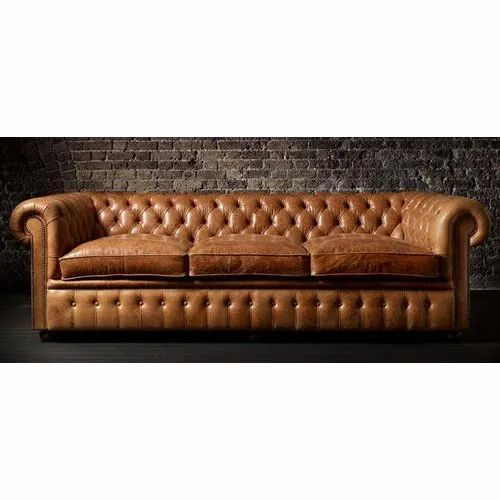 Chesterfield Leather Distress Sofa