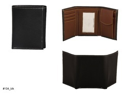 Black And Tan PU Leather And Foam Leather Artificial Leather Mens Wallet (104)