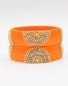 Orange Handmade Silk Thread Bangle