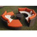 Outdoor Living Wicker Sofa