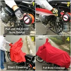 Semi Automatic Bike Cover