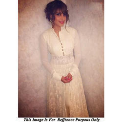 White Georgette Gown
