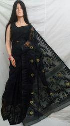 Black Dhakai Jamdani Saree