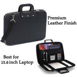Stylish Unisex Hard Shell Briefcase Black Laptop Bag 14 Laptop (40/30) Pack of 2
