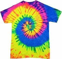Cotton Bio Washed 20 COLOUR Tie & Dye Promotional T-Shirt, Round Neck, Size: Sto 2xl